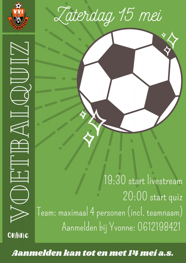 Voetbalquiz VVI - 15 mei!